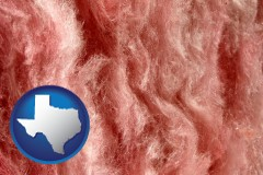 texas a fiberglass insulation macro photo