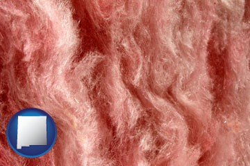 a fiberglass insulation macro photo - with New Mexico icon